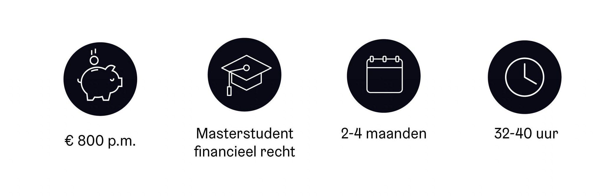 Student stagiaire financieel recht