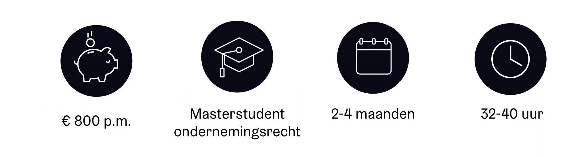 Student stagiaire ondernemingsrecht
